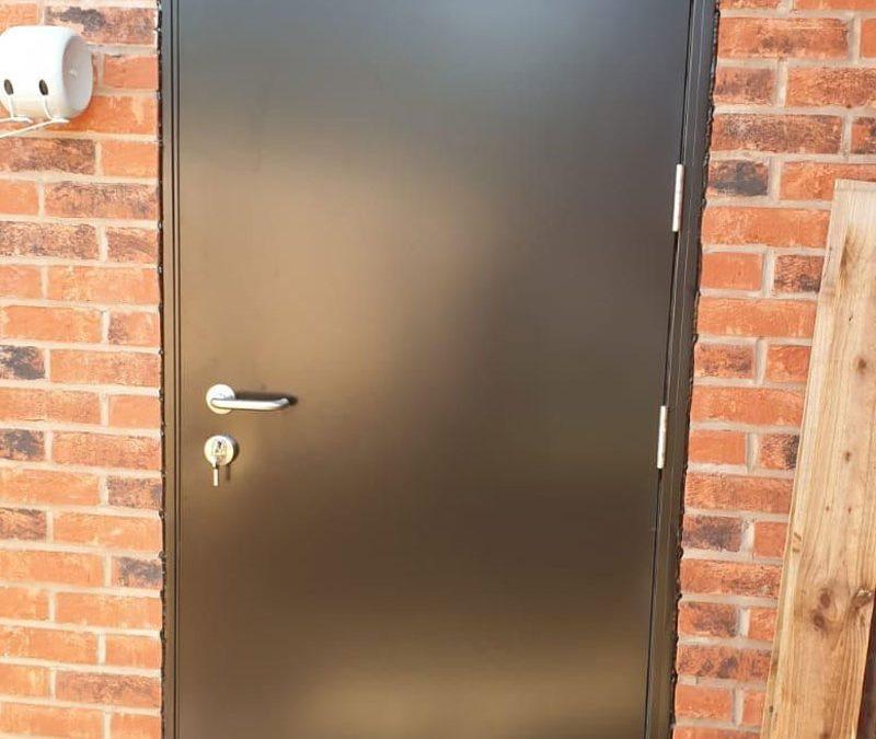 Domestic roller shutter and steel fire door